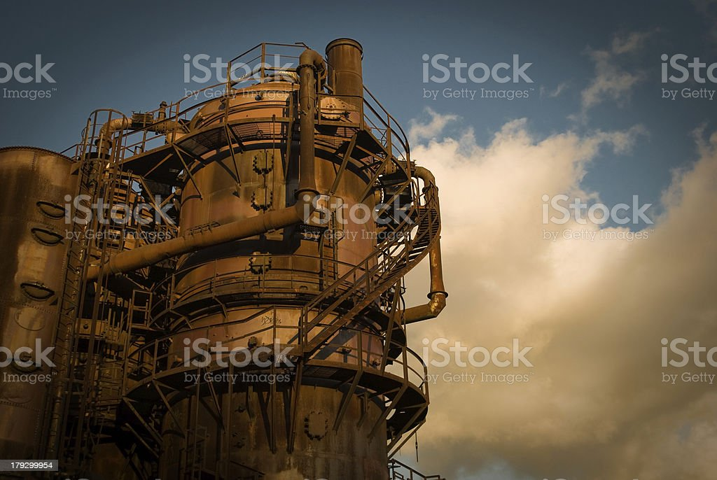 Rust and sky stock photo