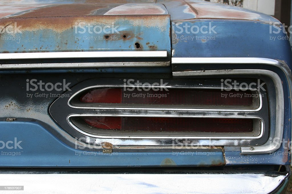 rust muscle car stock photo