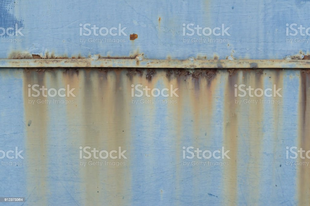 Rust on different colors iron background stock photo