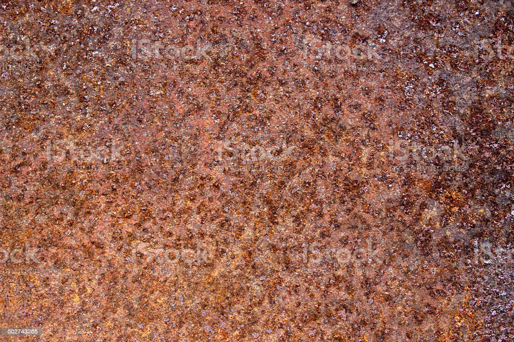 Rust on metal surface stock photo