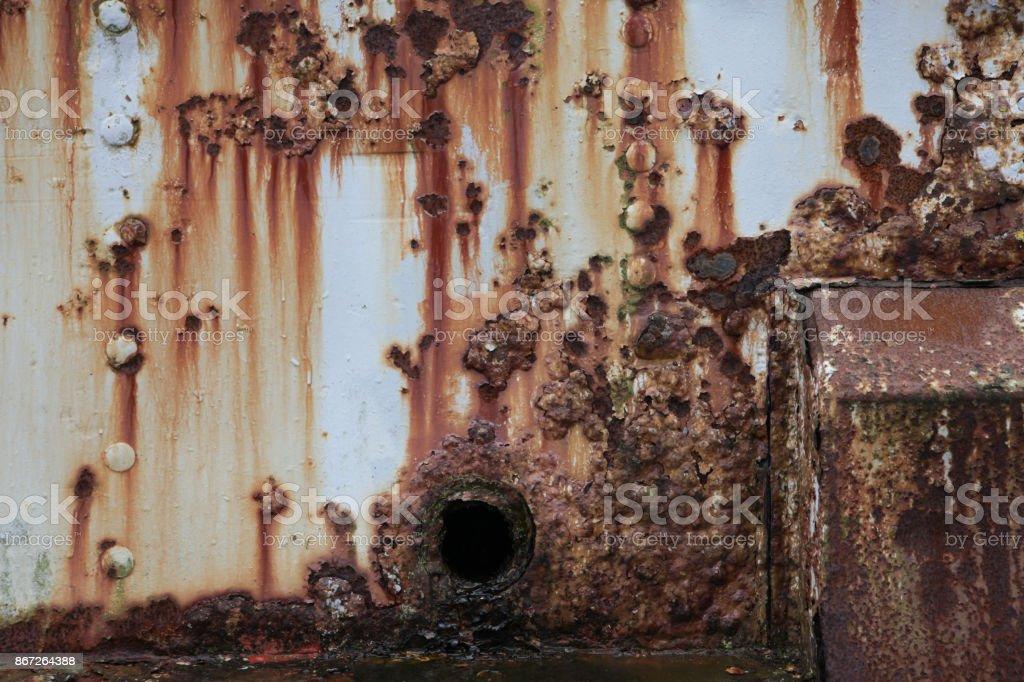 Rust am Schiffsrumpf – Foto