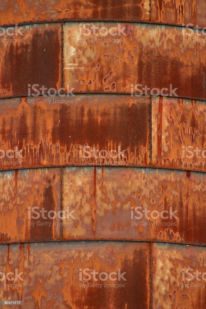 Rust on the Side of a Silo royalty-free stock photo