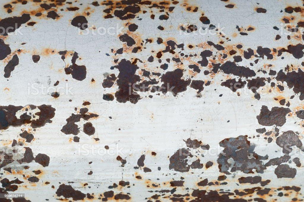 Moho en placa de hierro blanco - Foto de stock de Abstracto libre de derechos