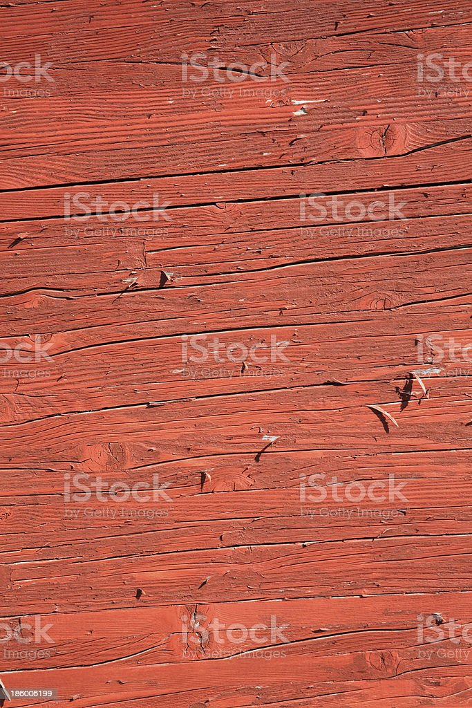 Rust Red Brown Peeling Paint Wood Background royalty-free stock photo