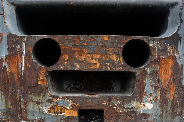 Ferrugem aço a corrosão. - foto de acervo
