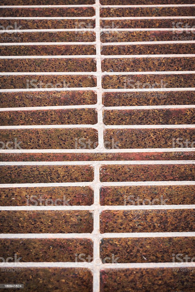 Rust steel grating royalty-free stock photo