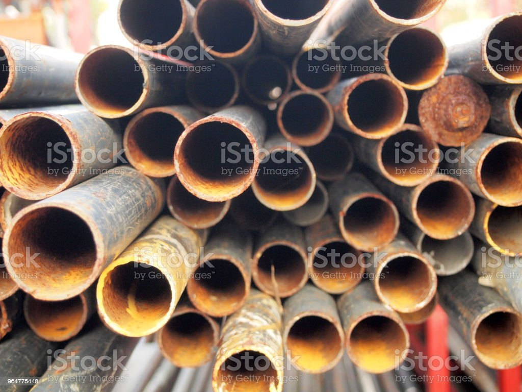Rust Steel pipe royalty-free stock photo