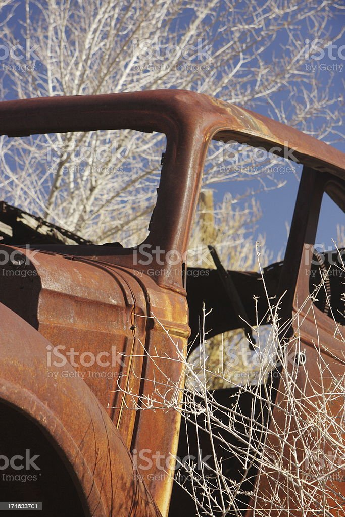Rustbucket Car Truck Junkyard royalty-free stock photo