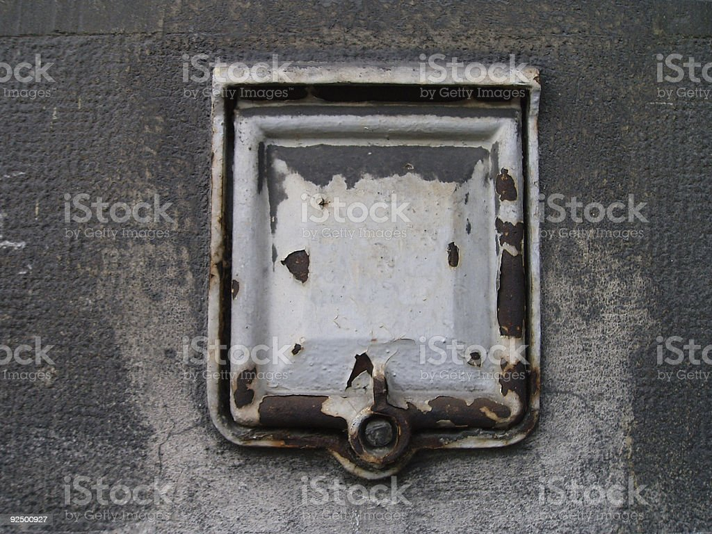 rusted and painted access to the electricity meter royalty-free stock photo