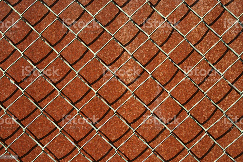 Rusted and Wired stock photo