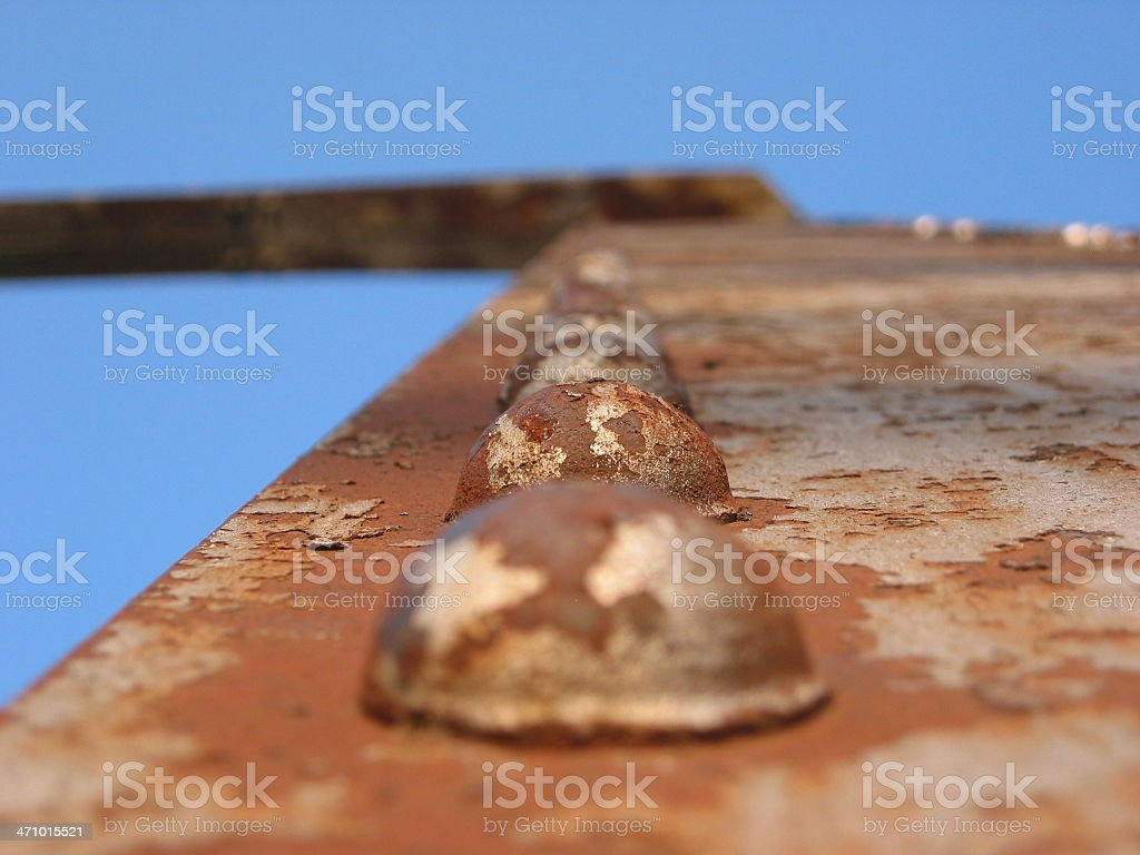 Rusted Bolts royalty-free stock photo