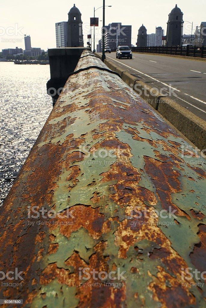 rusted bridge royalty-free stock photo