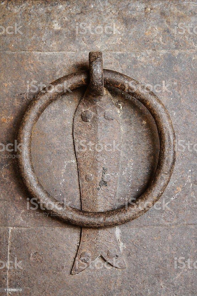 Rusted Bronze Handle stock photo