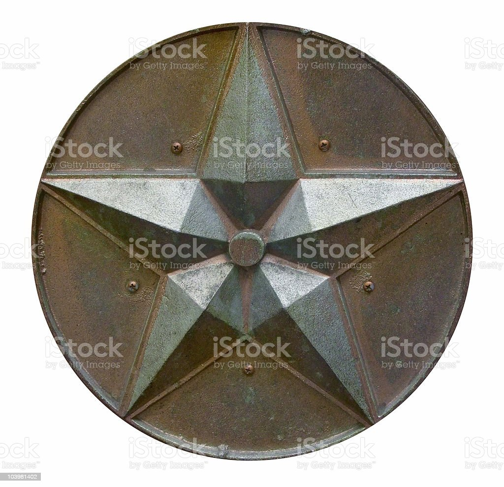 Rusted Bronze Star royalty-free stock photo