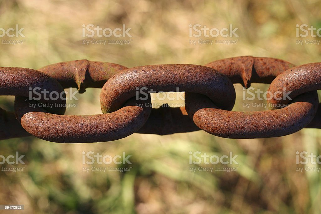 Rusted chain links royalty-free stock photo