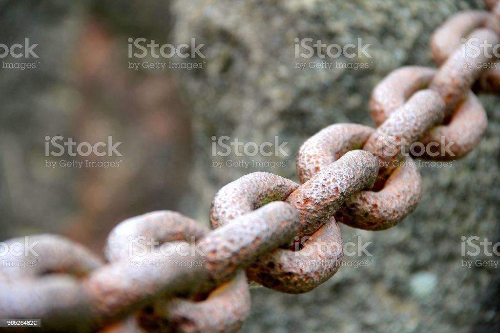Rusted Chain zbiór zdjęć royalty-free