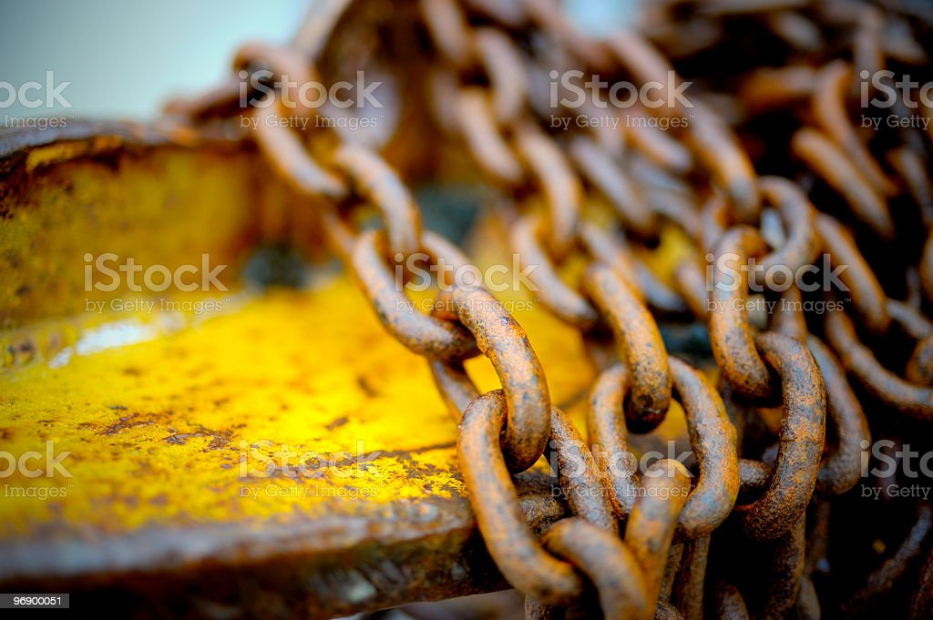 Rusted Chain royalty-free stock photo