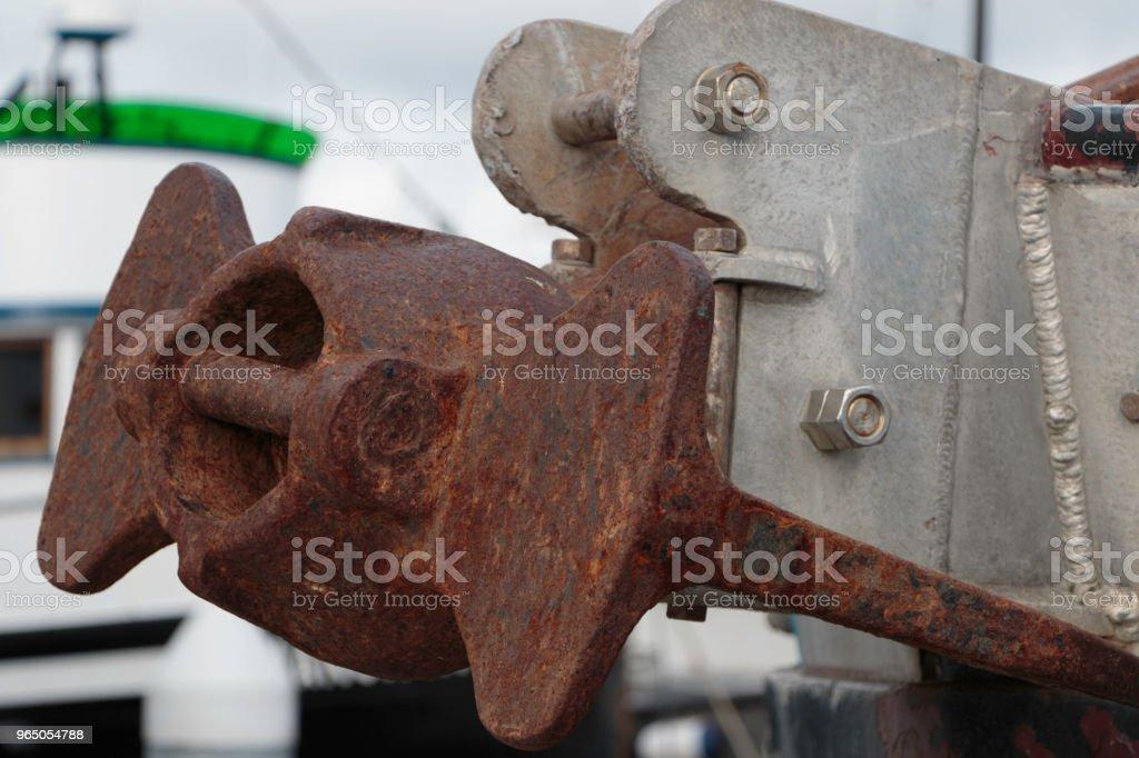 Rusted Commercial Fishing Boat Anchor zbiór zdjęć royalty-free