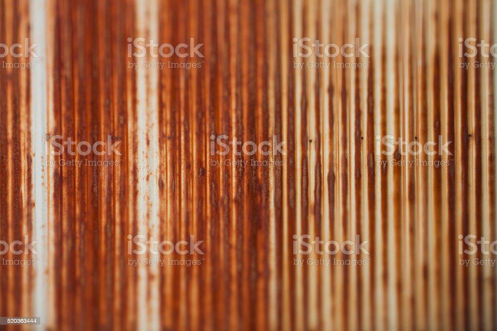 Rusted Corrugated Iron, Soft Focused stock photo