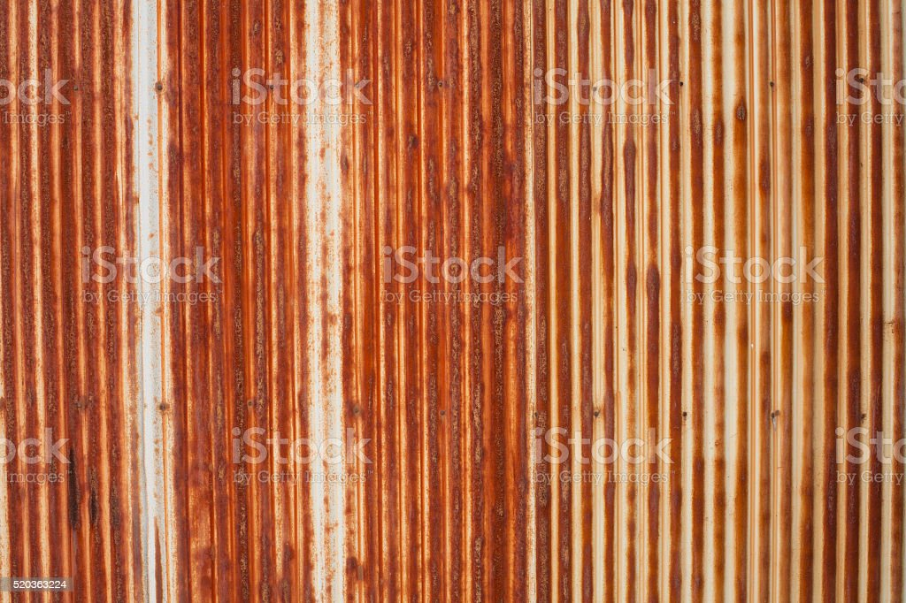 Rusted Corrugated Iron Texture stock photo