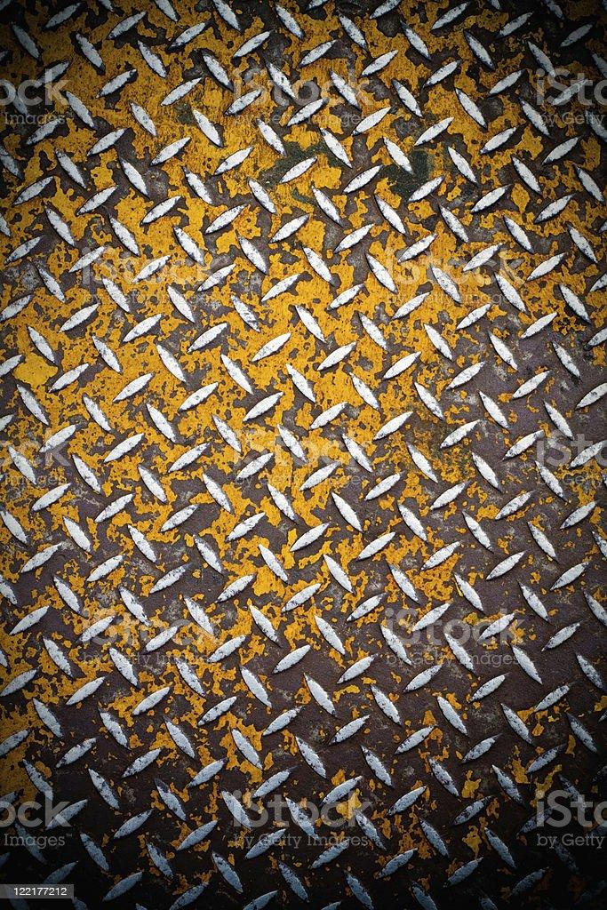 Rusted Diamond Plate Metal stock photo