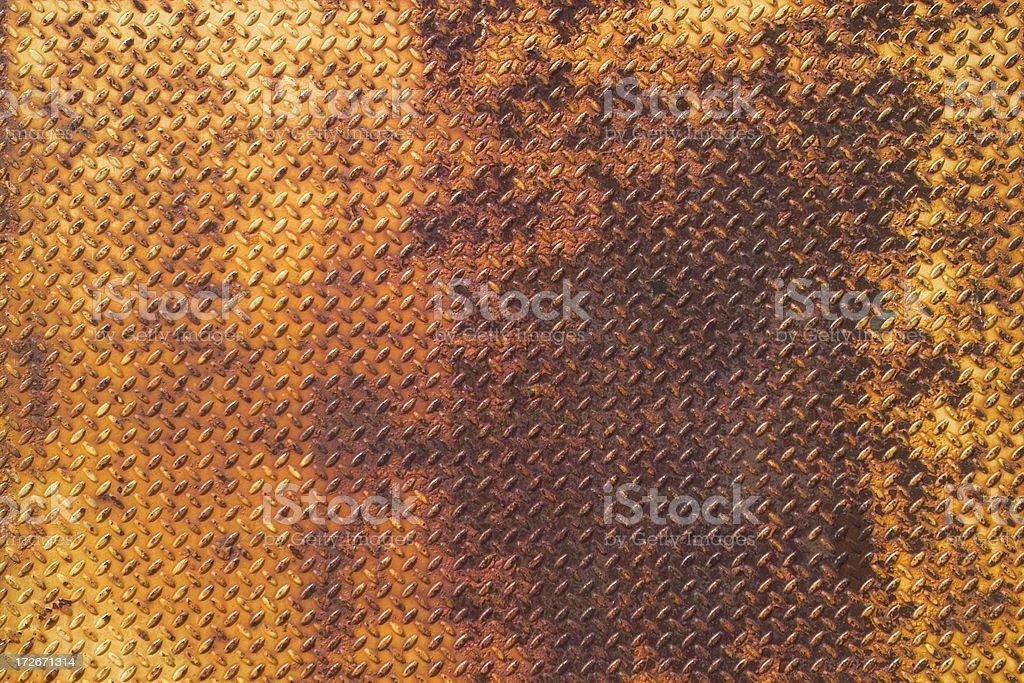 Rusted Diamond Plate royalty-free stock photo