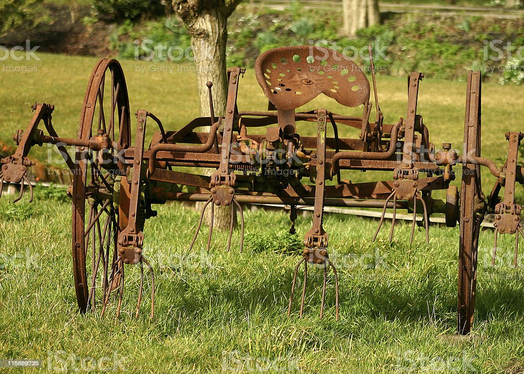 Rusted farm equipment royalty-free stock photo