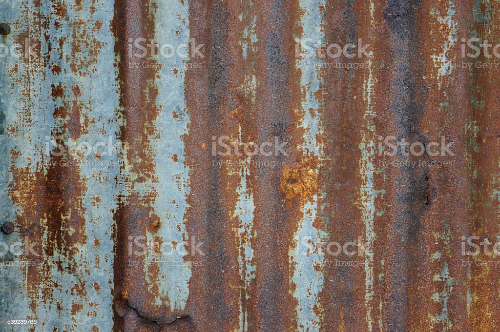 Rusted galvanized iron plate royalty-free stock photo
