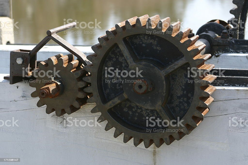 Rusted Gears royalty-free stock photo