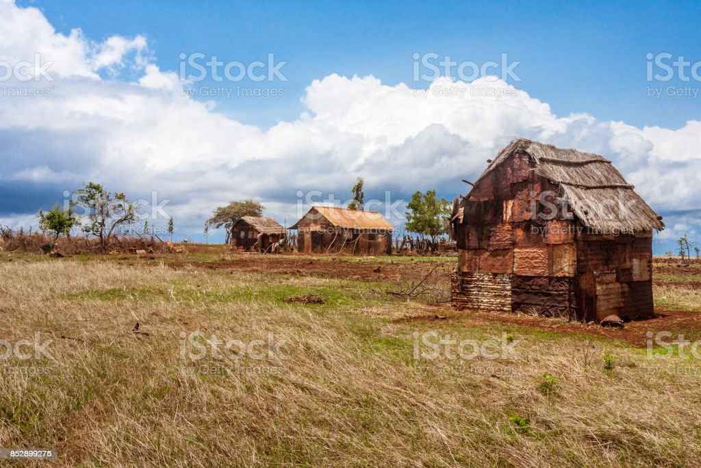 Rusted house stock photo