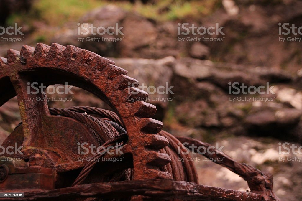 Rusted iron part royalty-free stock photo