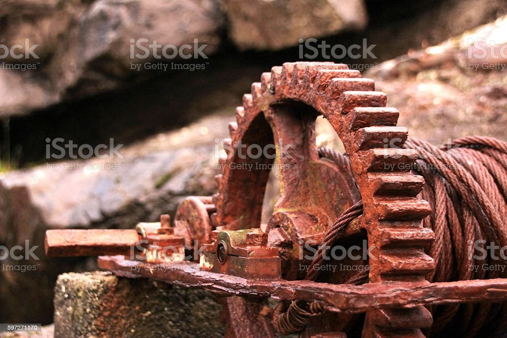 Rusted iron part Lizenzfreies stock-foto