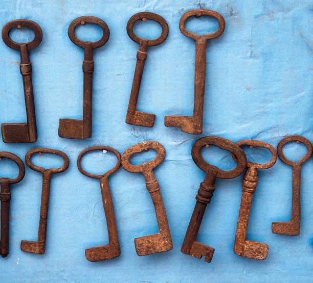 Enferrujada chaves - foto de acervo