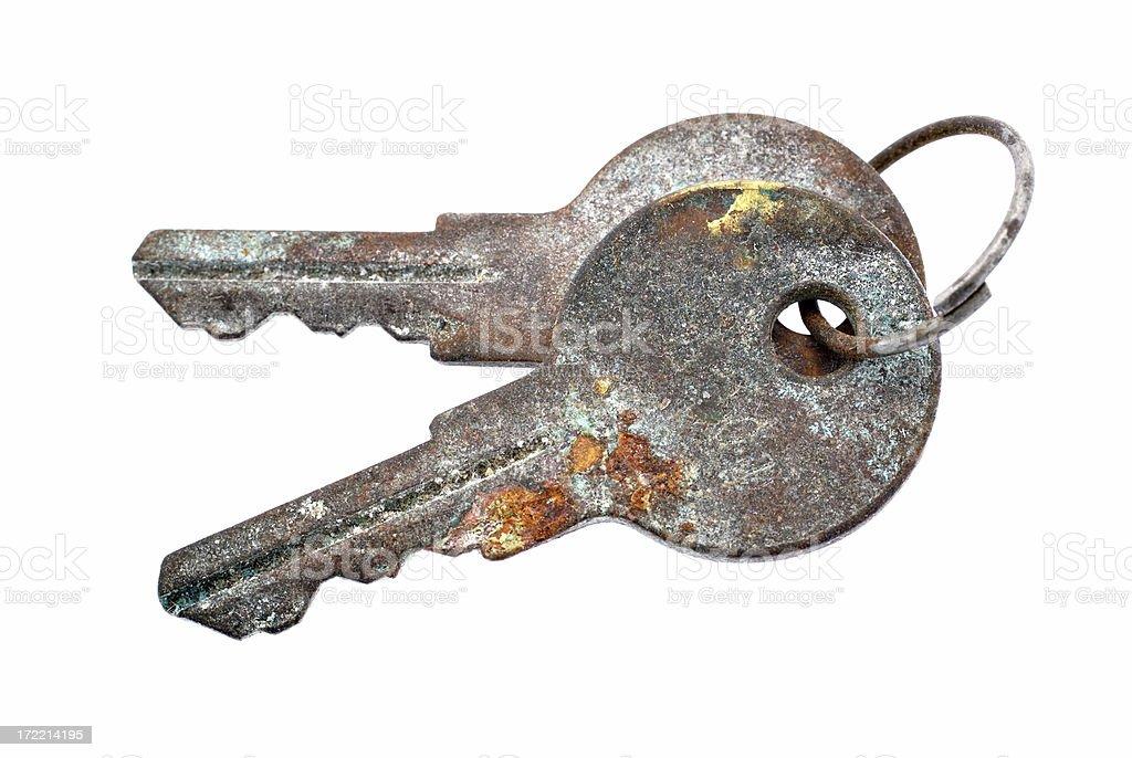 rusted keys royalty-free stock photo