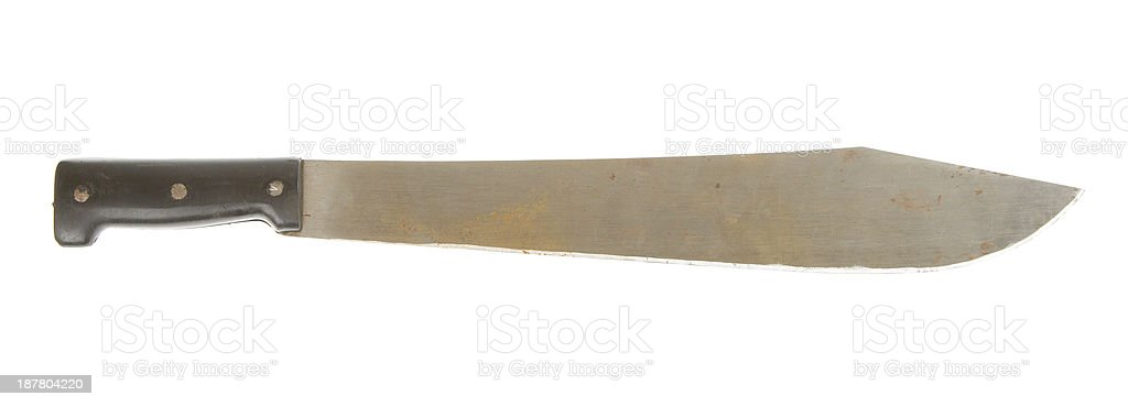 Rusted machete stock photo