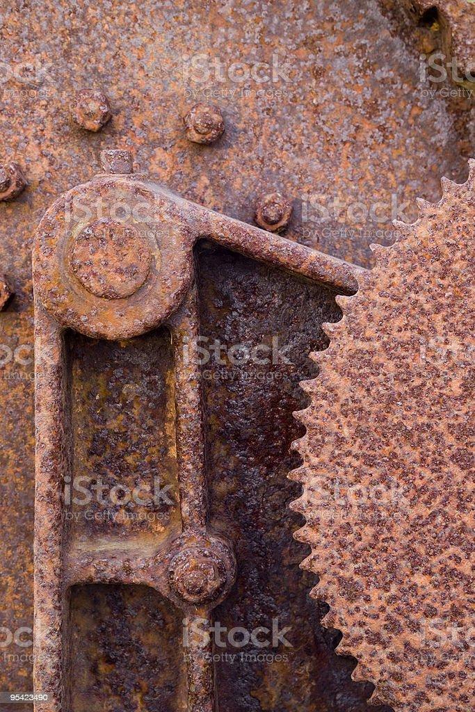 Verrostete Metall-Maschine Lizenzfreies stock-foto