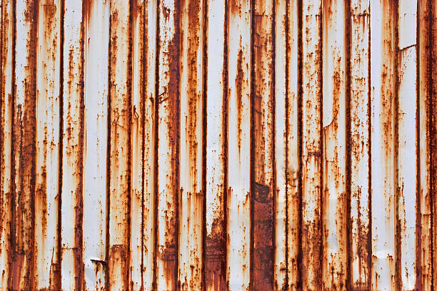 rusted metal panel stock photo