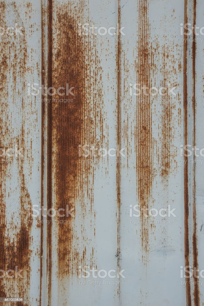 Rusted Metal Siding Vertical stock photo