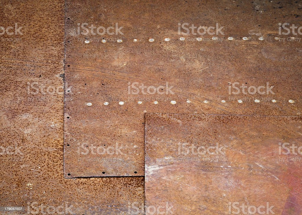 Rusted metal wall detailed grunge photo texture royalty-free stock photo