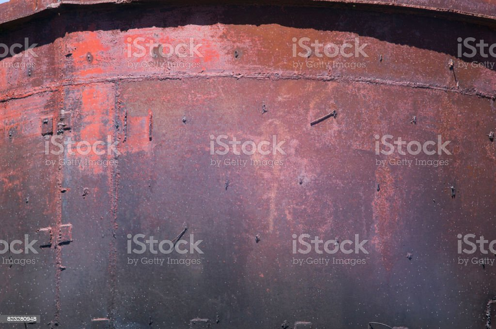 Rusted metallic surface stock photo