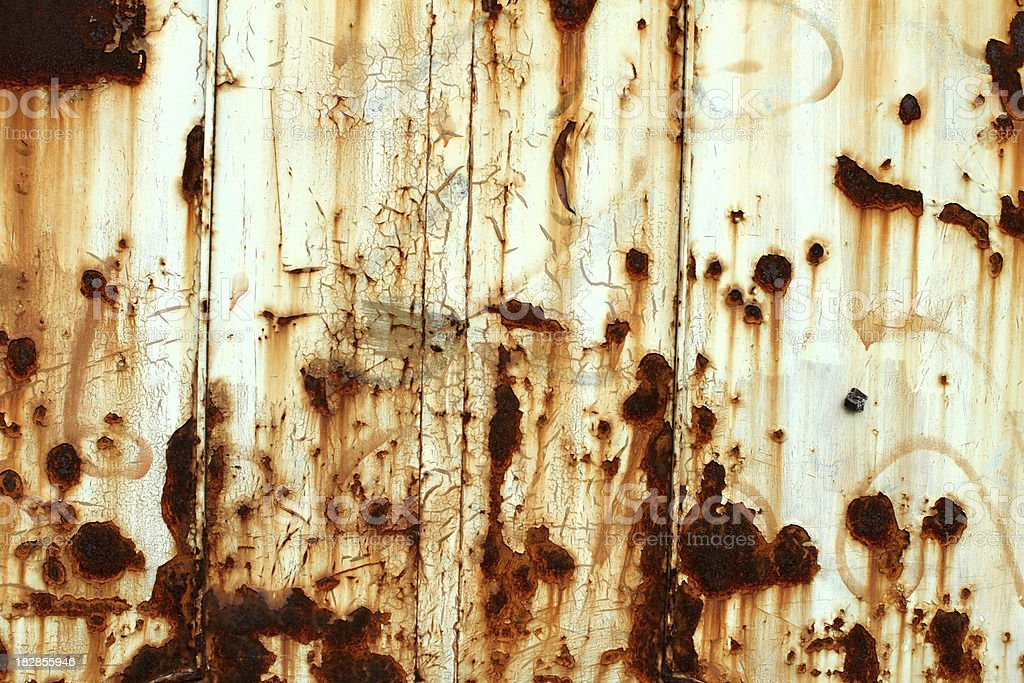 Rusted metallic wall background royalty-free stock photo