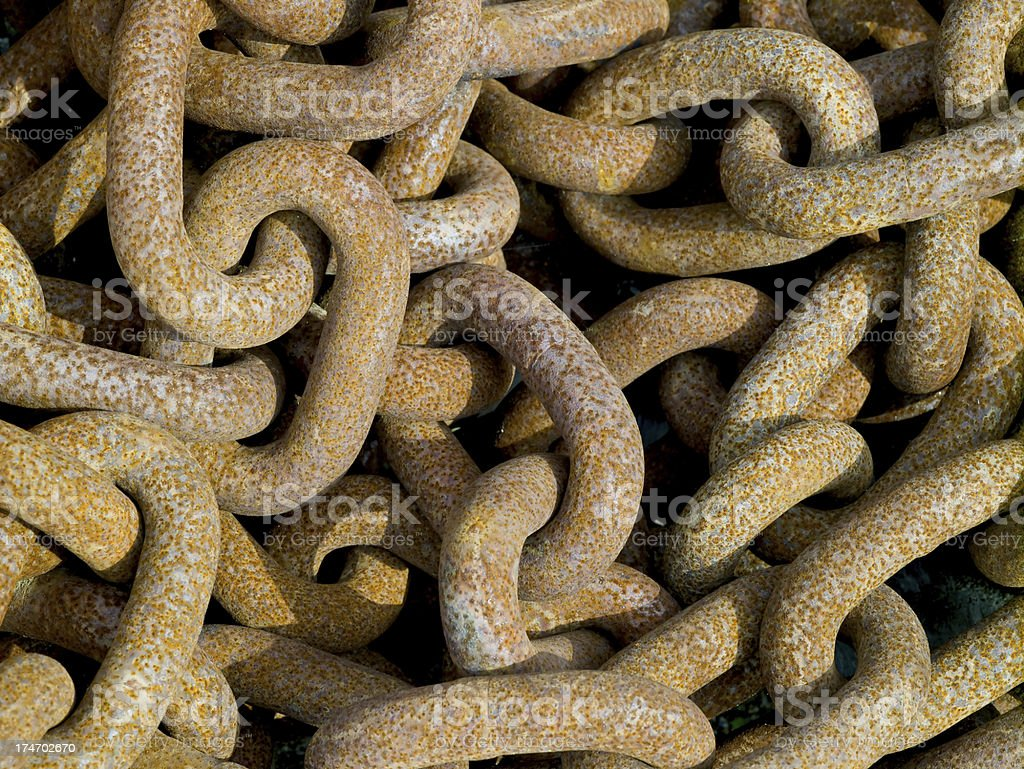 Rusted old chains royalty-free stock photo