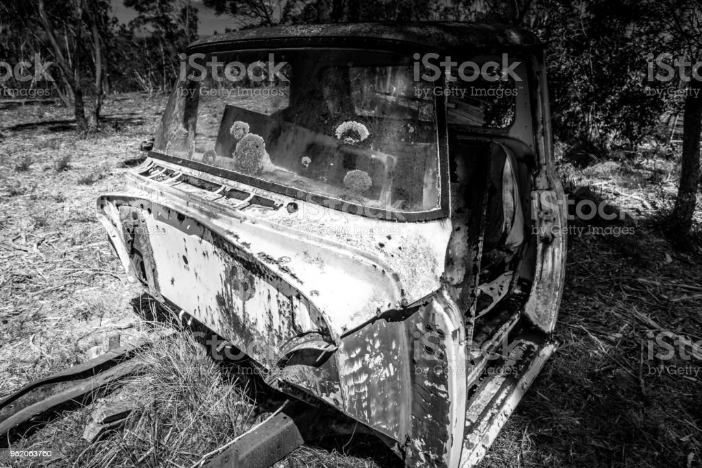 Rusted old truck in the Outback stock photo