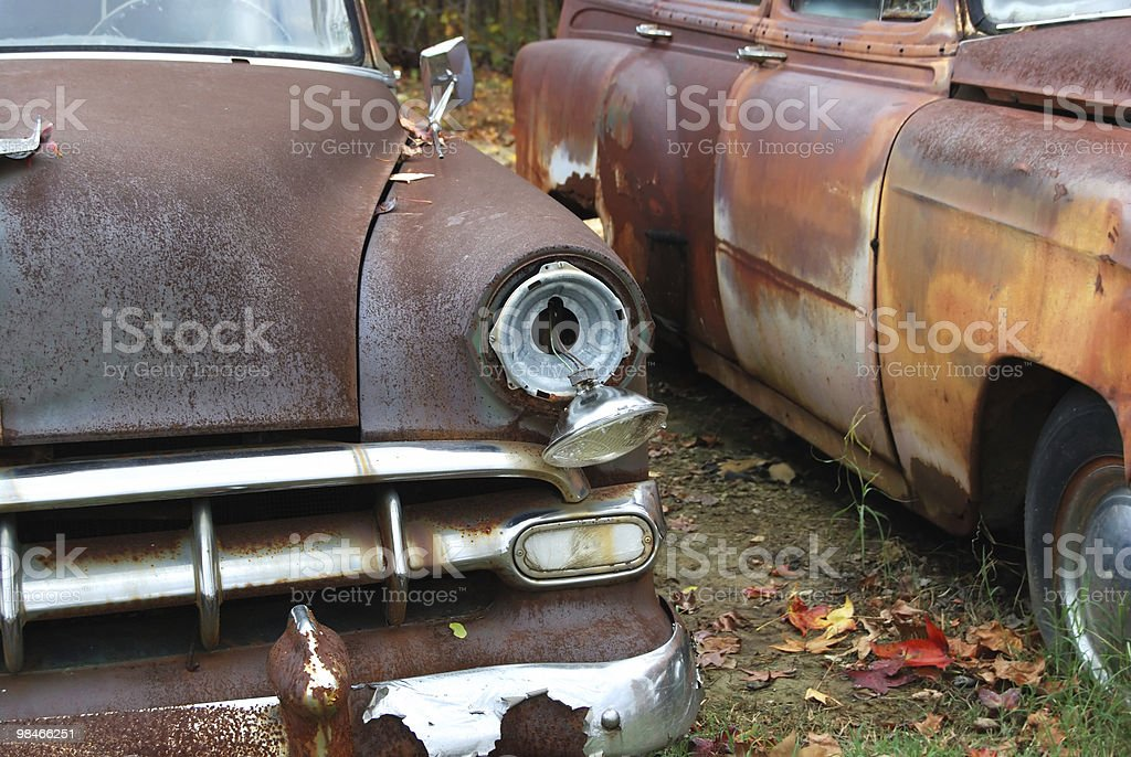 Rusted royalty-free stock photo