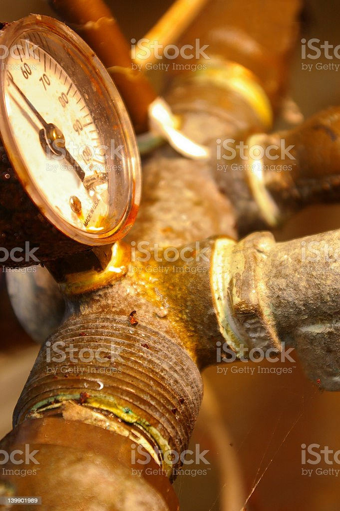 rusted pipes royalty-free stock photo