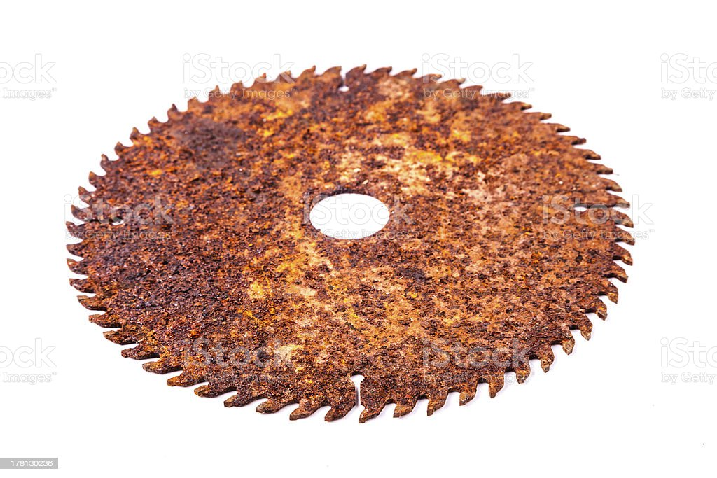 rusted round saw royalty-free stock photo