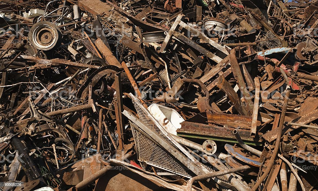 Rusted scrap metal pile royalty-free stock photo