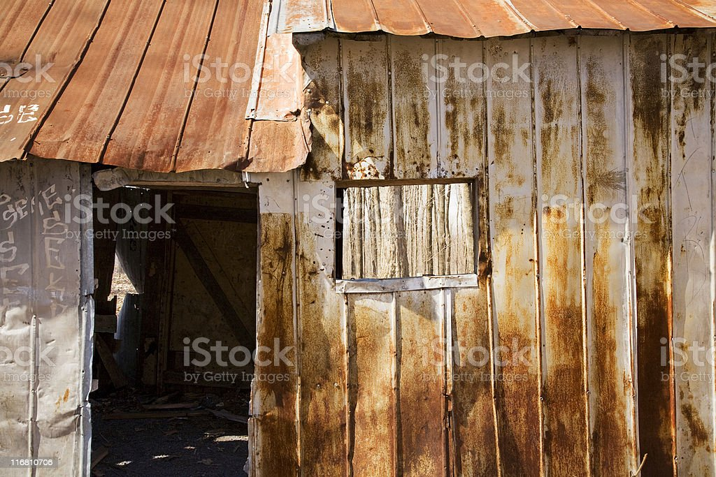 Rusted shelter stock photo