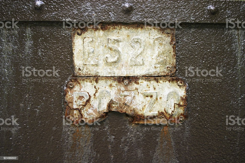 Rusted sign royalty-free stock photo