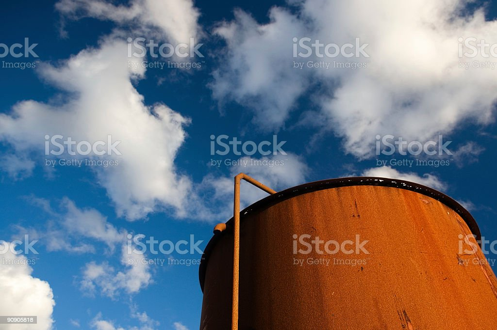 Rusted Silo royalty-free stock photo